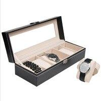 2017 HOT Sale 6 Grids Watch Storage Box Luxury Refinement Slots Wrist Watches Jewelry Storage Case