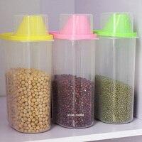BPA Free Food Storage Container Kitchen Grain Storage Box Food Organized Tool Pink Green Yello Boxes