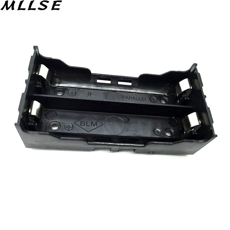 Mllse 2 шт./лот Пластик DIY литиевая Батарея коробка Батарея держатель с Булавки подходит для 2*18650 (3.7 В -7.4 В) литиевая Батарея случае