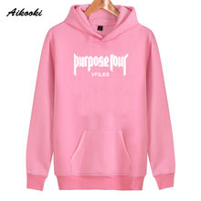 2018 Aikooki Justin Bieber Women's Hoodies Fashion New Cotton Hoodies Women/Men High Quality Harajuku Hoodies Clothes(China)