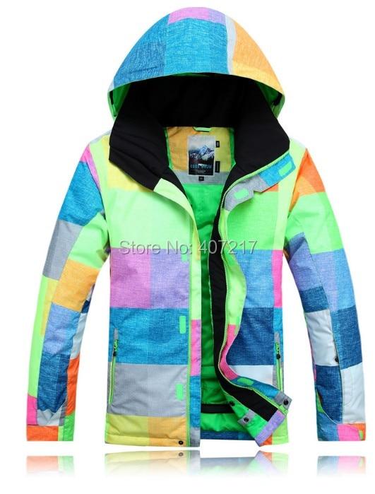 2015 mens ski jacket color matching snowboarding jacket for men warm snow coat skiwear mountaineering jacket waterproof 10K warm 2016 womens color matching ski jacket blue pink gray snowboarding jackets skiing jacket for women anorak skiwear 10k xs l