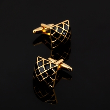 XK438 High high quality French Cufflinks steel grid Cufflinks males married shirtworks equipment / wholesale / retail /