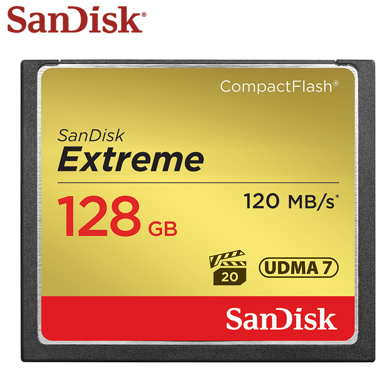 SanDisk Extreme CF Card CompactFlash 128GB Full HD 4K High Speed 120M/s Memory Card Flash Card For Camera TF Card цена