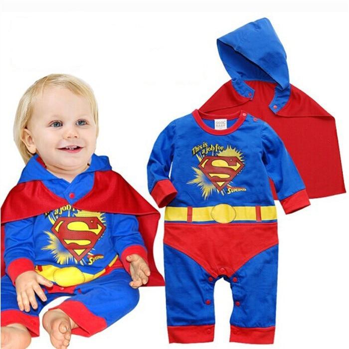 Infant Baby Romper Newborn Baby Girls Clothes Short Sleeve Halloween Superman Costume Roupa Infantil Bebes Pink Girls Dress