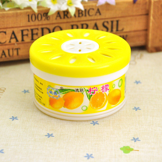Free Shipping Best Gifts Refreshing Screw Cap Style Fragrance Lemon Scent  Air Freshener for Car Auto Cleaning
