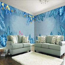 3d wallpaper beautiful tropical plants and flamingo whole house custom background wall