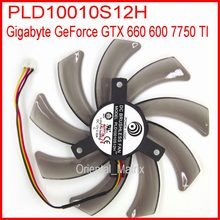 Frete grátis pld10010s12h 12v 0.30a 95mm para gigabyte geforce gtx 660 600 7750 ti placa gráfica ventilador de refrigeração 3pin