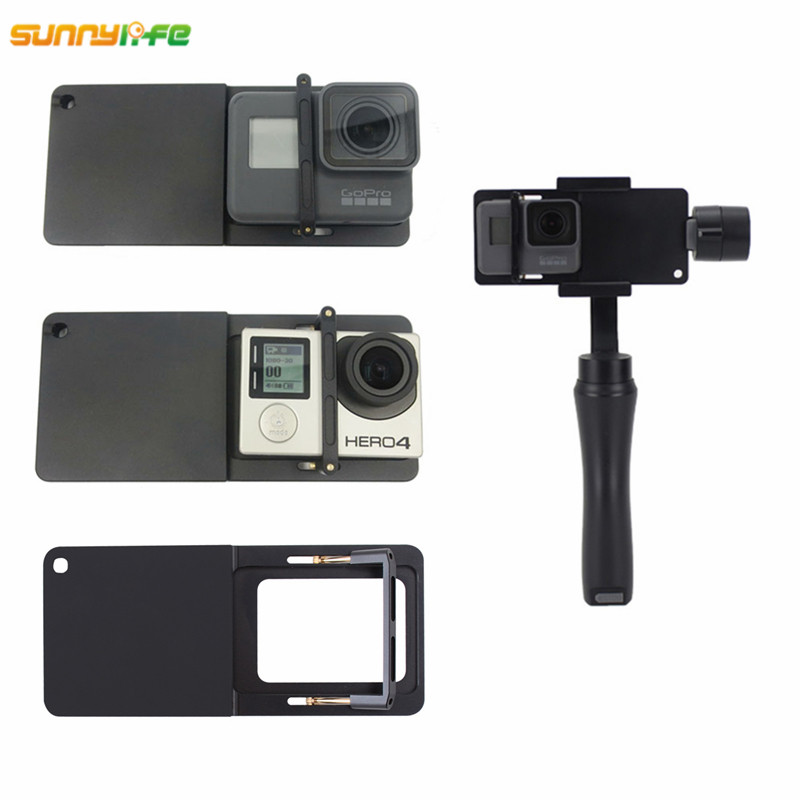 Sunnylife Handheld Gimbal Adapter for GoPro Hero 6 5 4 3+ Yi 4k Camera Switch Mount Plate for DJI Osmo Zhiyun Smooth Q Mobile