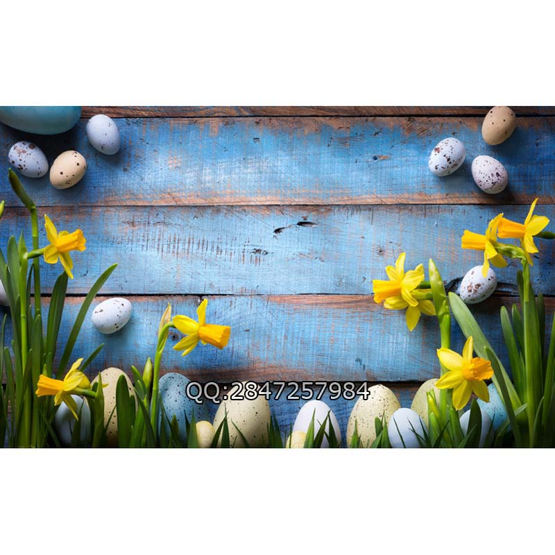 1.5*2.2m vinyl Easter Eggs Spring  photography background Computer Printed wood Photography backdrops for Photo  studio  F-2379 200cm 150cm easter photography backdrops hay wood walls eggs studio photo easter day zj