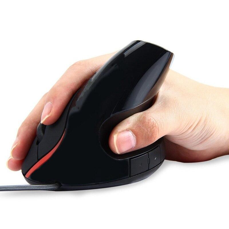 Проводной Вертикальная Мышь оригинальный Эргономичный USB 1600 Точек на дюйм оптический Right Hand вертикально здоровый Мыши компьютерные для настольных ПК ноутбуков