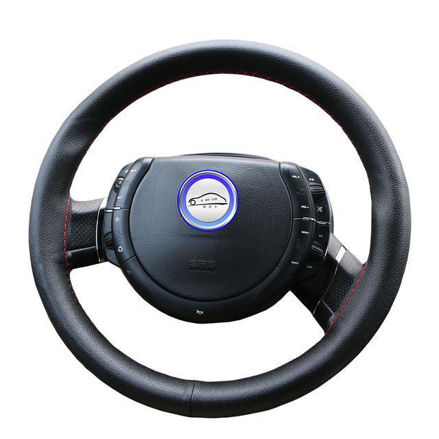 Car steering wheel cover Diameter 36cm 38cm 40cm /Wholesale Supply Do Not Fade handlebar braid Leather Steering-Wheel