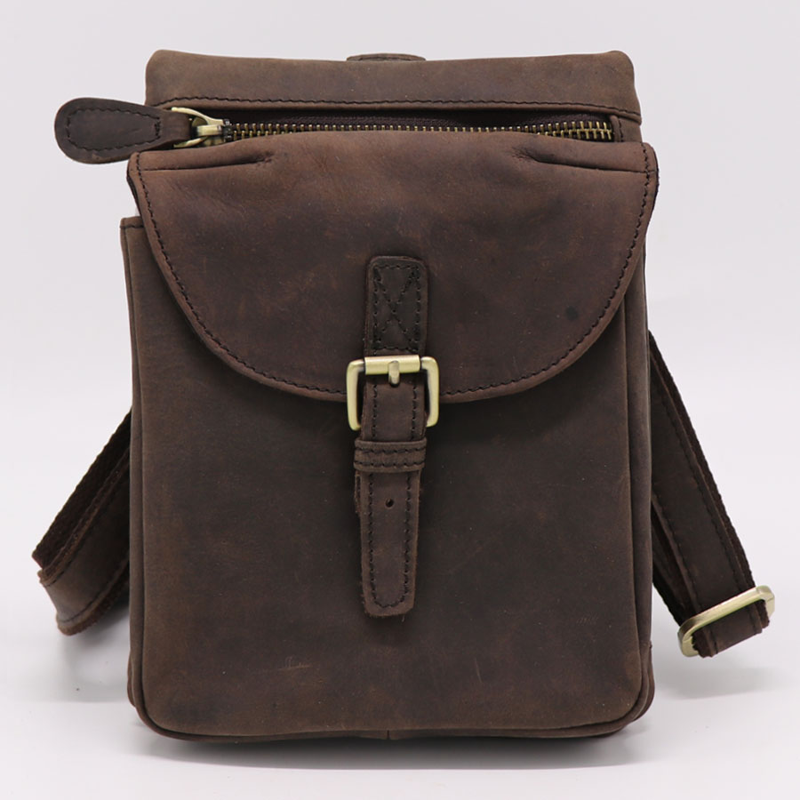Brand Genuine Leather Casual Travel Bag Men's Shoulder Messenger Bags Waist Belt Pack D Buckle Hook Sling Bag Multi-functions mj brand design women genuine leather bags fashion real cowhide leather shoulder bag lady small cross body bucket messenger bag
