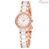 2018 New Kimio Ladies Imitation Ceramic Watch Luxury diamond Bracelet Watches with Fine Alloy Strap Dress Watch relogio feminino