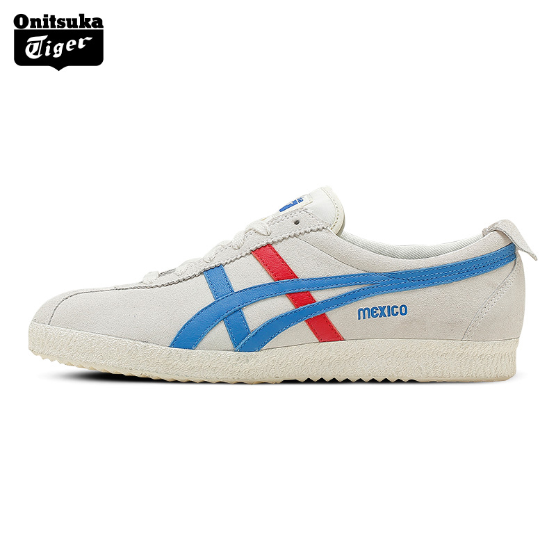 ONITSUKA TIGER MEXICO Retro Walking Shoes Men Classical Sport Shoes Breathable Leather Women's  BreathaShoes White Color D639L u2 mexico