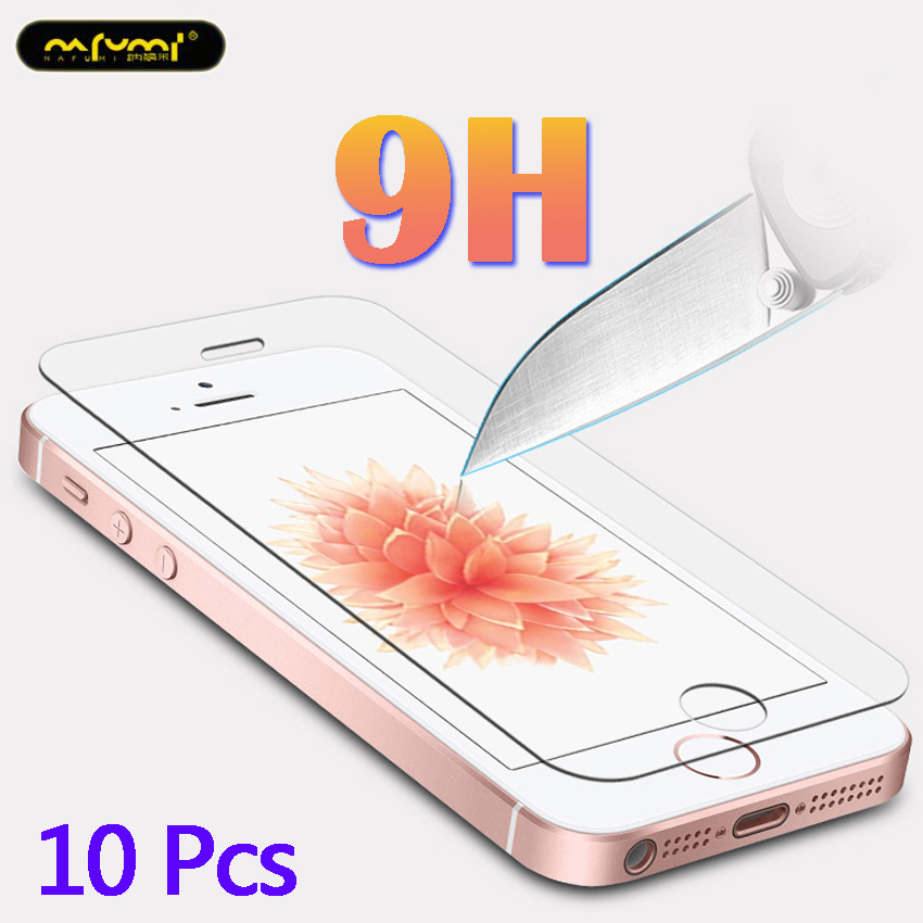 10Pcs glass on for iphone 5s Tempered protective se 5 film 5c tempered toughened