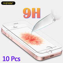 10Pcs glass on for iphone 5s Tempered glass protective glass for iphone 5s se 5 film for iphone 5s 5c 5 tempered toughened glass electroplating tempered glass mirror screen guard film for iphone 5 5s 5c