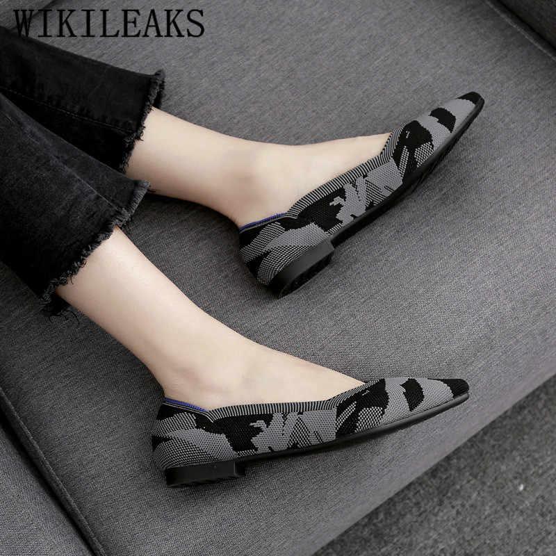 Puntschoen vrouwen schoenen luxe merk platte schoenen vrouwen lente herfst vrouwen flats dames slip op schoenen voor vrouwen loafers sapatos