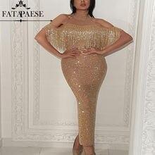 Женское вечернее платье Русалочка с золотыми блестками и открытым
