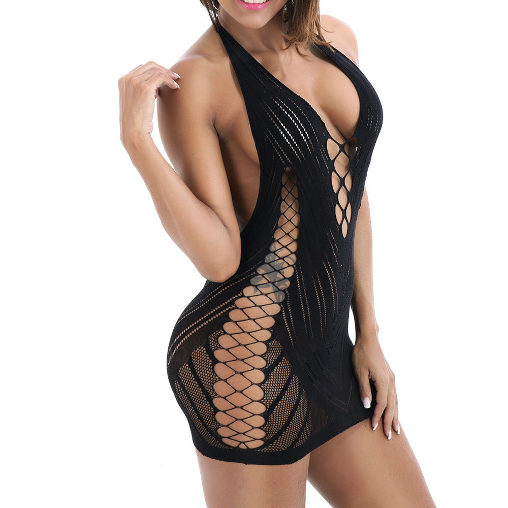 Black Sexy Womens Lingerie Babydoll Ropa Interior Mujer Sexy Erotica Dress Underwear Sleepwear Chemise Dress #199X(China)