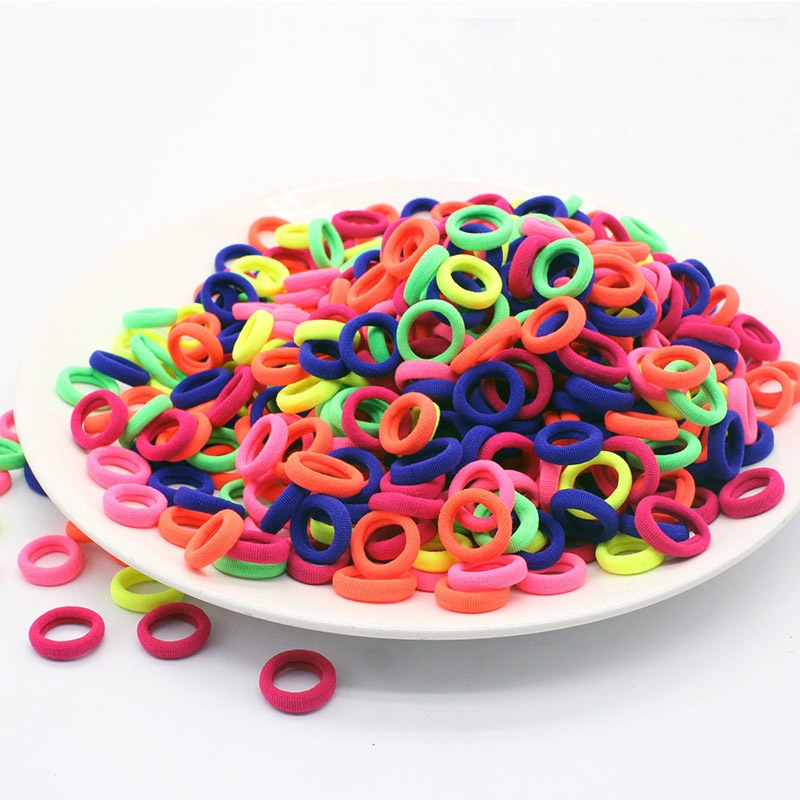 50pcs 2cm Mini Hairbands For Children Scrunchy Elastic Hair Bands Girls Rubber Bands Hair Accessories Headbands Headwear