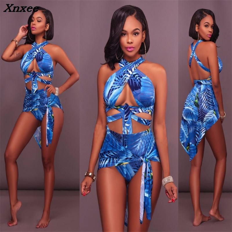 <font><b>sexy</b></font> casual tracksuit women two piece set summer outfits sleeveless top and <font><b>short</b></font> shirt bandage print pattern <font><b>ensemble</b></font> <font><b>femme</b></font> image