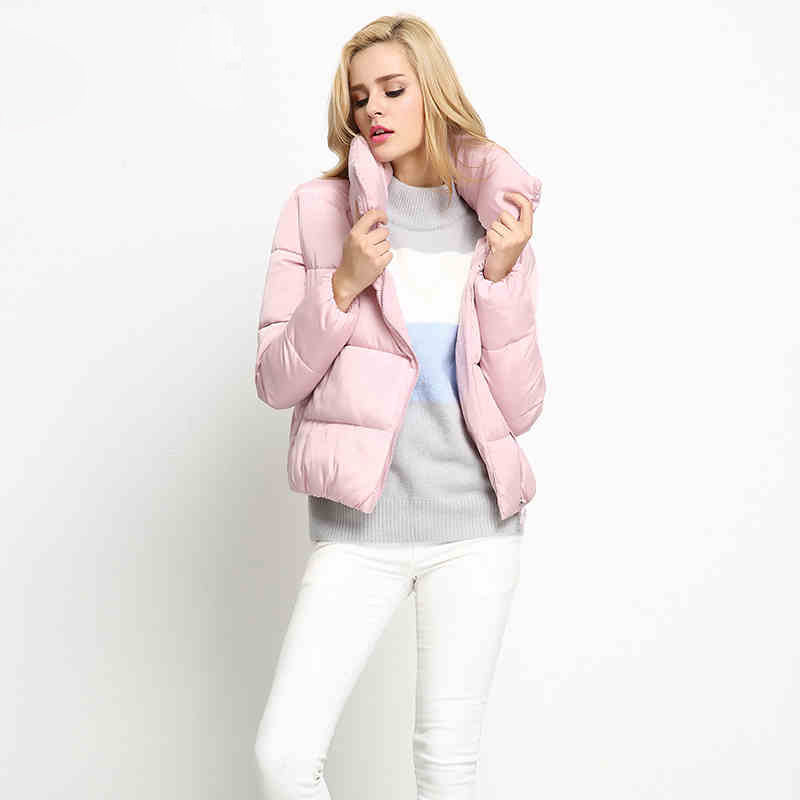 ФОТО Fashion warm short jackets women's Down & Parkas 2016 new top quality snow wear loose jacket coat outerwear free shipping JX932