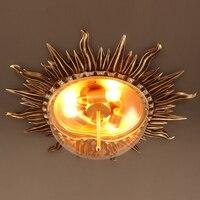 Ретро Потолочные светильники творческая личность гостиная спальня столовая Декоративные кафе солнце потолочные