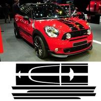 1Set Car Hood Trunk Rear Side Skirt Racing Stripe Body Kit Decal Car Stickers For Mini Countryman