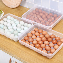Dozzlor 34 Grid Single-Layer Egg Box Basket Organizer Plastic Egg Food Container Storage Box Home Kitchen Transparent Case Egg(China)