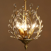 American Vintage Luxurious LED Crystal Chandelier Restaurant Lamp Dining Room Lamps Aisle Bar Ceiling Lamp Lighting Fixture