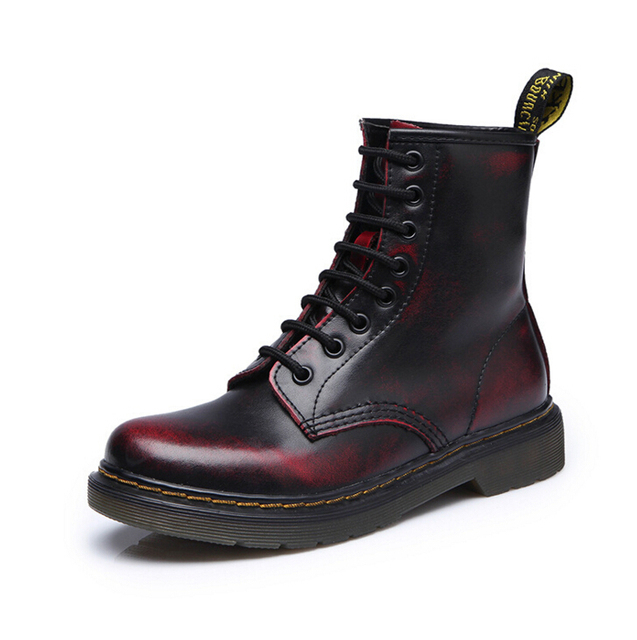 Free shipping!2017 Quality Dr Genuine Leather shoes men Boots High Top Martin Motorcycle Autumn Winter shoes Lover snow Boots