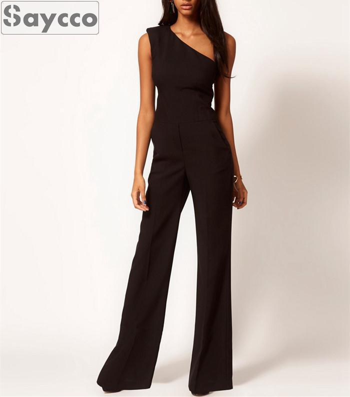 Women Jumpsuit Rompers Macacao Feminino One Shoulder -3162
