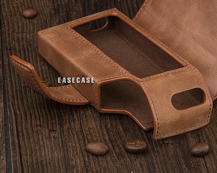 Image 5 - E4 Custom Made Genuine Leather case for HIFIMAN R2R2000-in Phone Pouches from Cellphones & Telecommunications