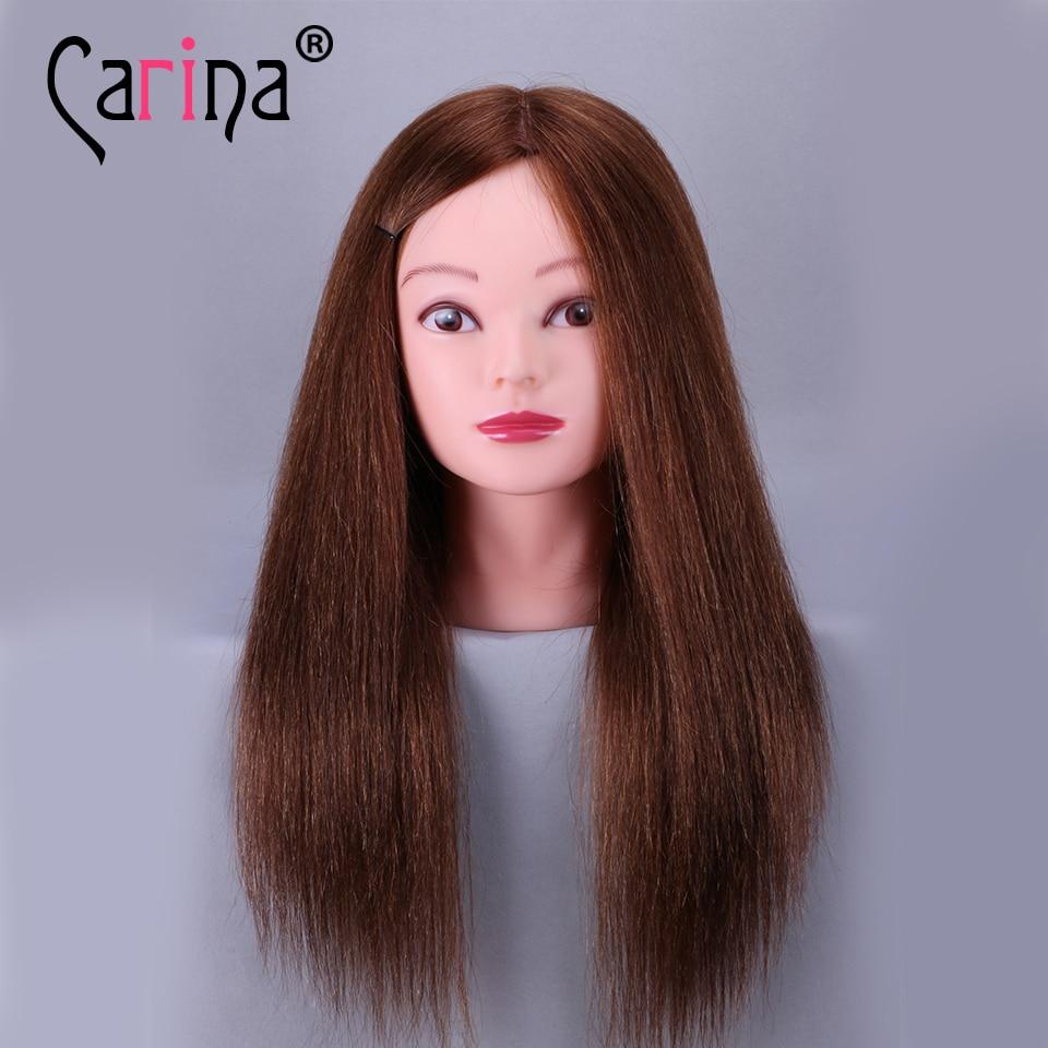 100% Həqiqi Saç Təlimi Mannequin Head 18
