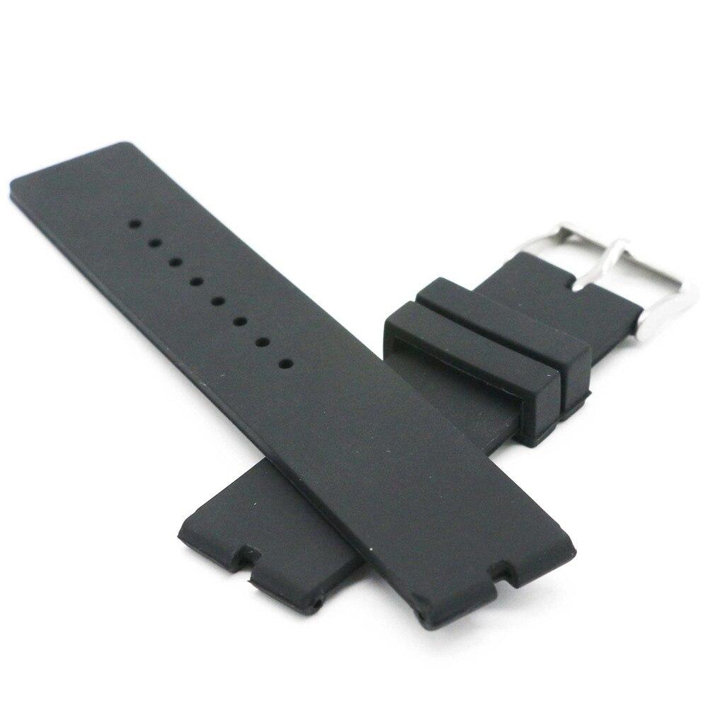 New 22mm Rubber Silica Gel Watch Band For Motorola Moto 360 Smart Watch + Tools Black