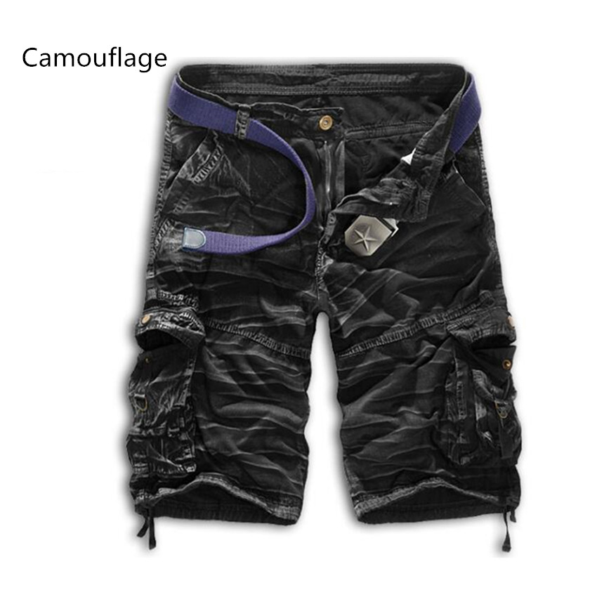 Summer Men New Casual Size Zipper Shorts Camouflage Buttons Mens Shorts 2018 Fashion Tid ...