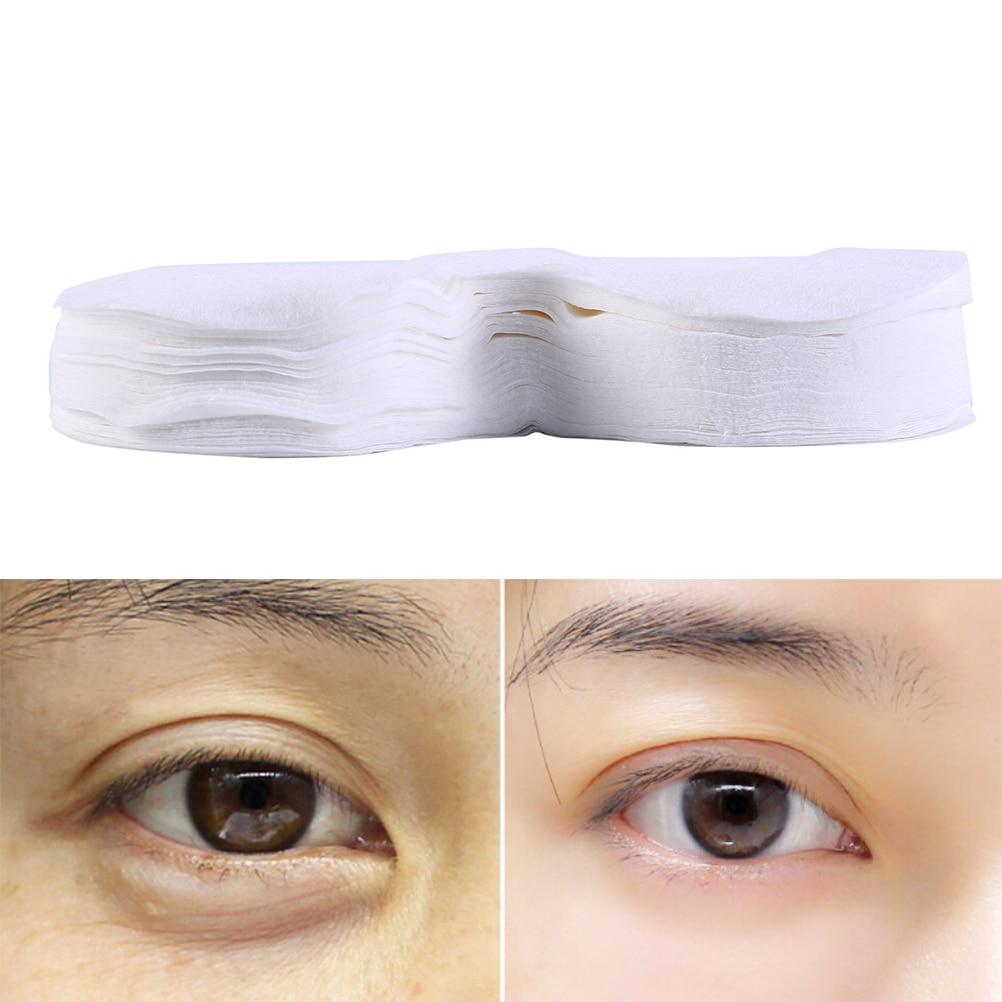 100 יחידות דחוס עין מסכת עיניים פנויה מסכת Ultrathin כותנה DIY טבעי כותנה עין מסכת נייר