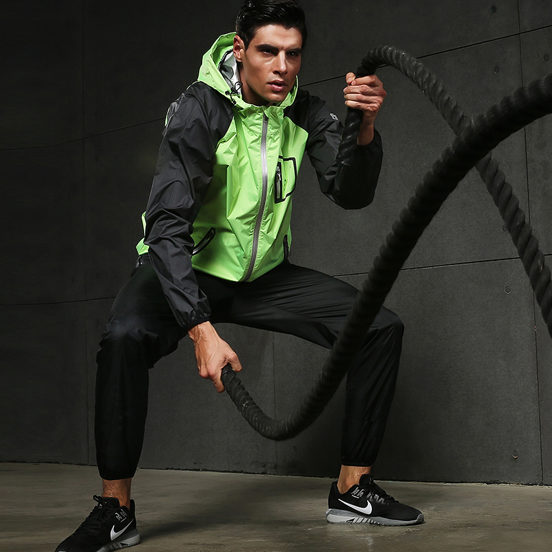 Image 3 - 2019 VANSYDICAL Sweat Suit Womens Mens Sports Running Suits Fitness Lose Weight 2pcs Gym Sportswear Fitness Track Training Suits-in Running Sets from Sports & Entertainment on AliExpress
