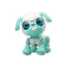 Собака Робот электронный для домашнего животного Умный щенок роботизированная собака светодиодный глаз звук Запись поют сон милая игрушка#4M24