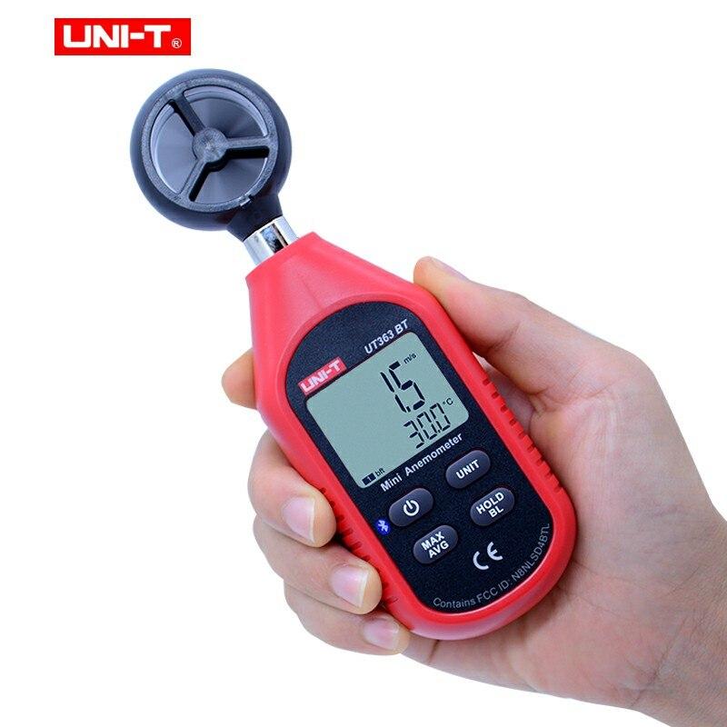 Anemometer UT383BT UT333BT Light Mini Meter UT353BT T Digital Humidity UT363BT UNI Digital LUX Sound Meter Meter