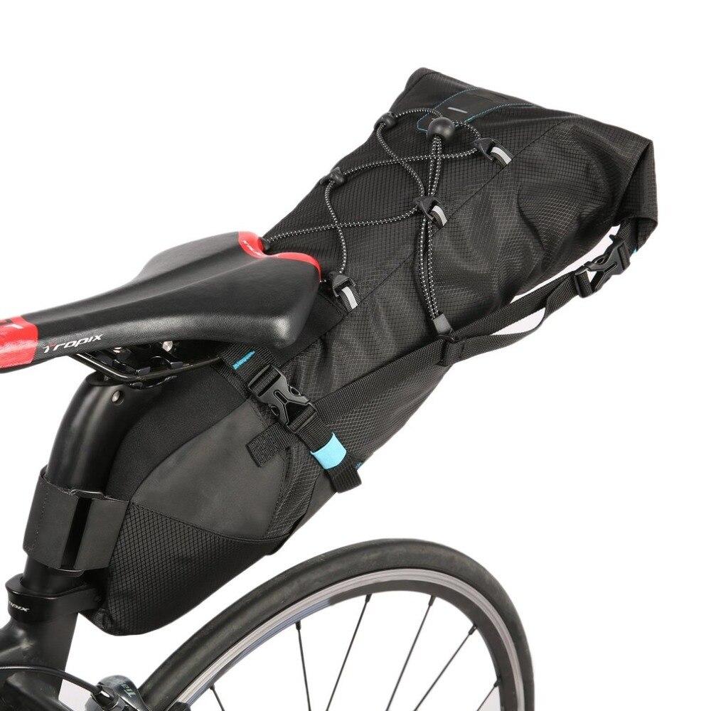 ROSWHEEL Full Waterproof Bike Bicycle Bag Saddle Bag Cycling Mountain Bike Back Seat Rear Bag Accessories ATTACK SERIES bike bag roswheel 13876mk bike bicycle nylon saddle seat tail bag black m