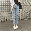 2017 New Vintage High Waist Jeans Women Hole Denim Pants Casual Boyfriend Harem Pants Fits Lady Jeans Plus Size C490