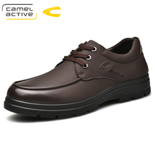 Camel Active New Handmade Breathable Mens Oxford Shoes Top Quality Dress Shoes Men Flats Fashion Genuine Leather Casual Shoes