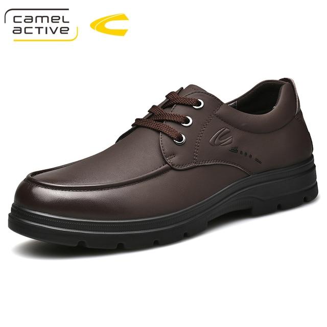 Camel Active zapatos informales hechos a mano nuevos para hombre, calzado transpirable de vestir, de alta calidad, planos, de piel auténtica