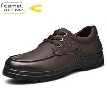 Camel ativo novo artesanal respirável oxford sapatos masculinos de alta qualidade sapatos masculinos apartamentos moda couro genuíno sapatos casuais