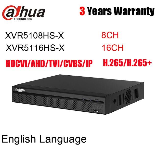 Dahua XVR5108HS X XVR5116HS X 8CH 16CH Penta Brid 1080P Compact 1U Digitale Video Recorder Vervangen XVR5108HS XVR5116HS Xvr Logo