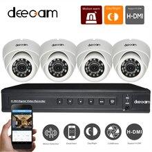 DEECAM 4CH CCTV Sistema Kit CCTV Cámara CCD 420TVL de interior Cámara de INFRARROJOS Sistema de Seguridad Inicio de Vigilancia P2P Sistema de DVR 4 canal