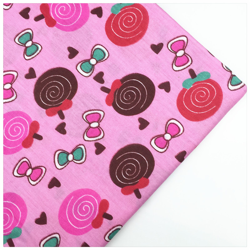 Gambar Syunss Pink Kembali Tissu Mewarnai Permen Dicetak Kain Katun