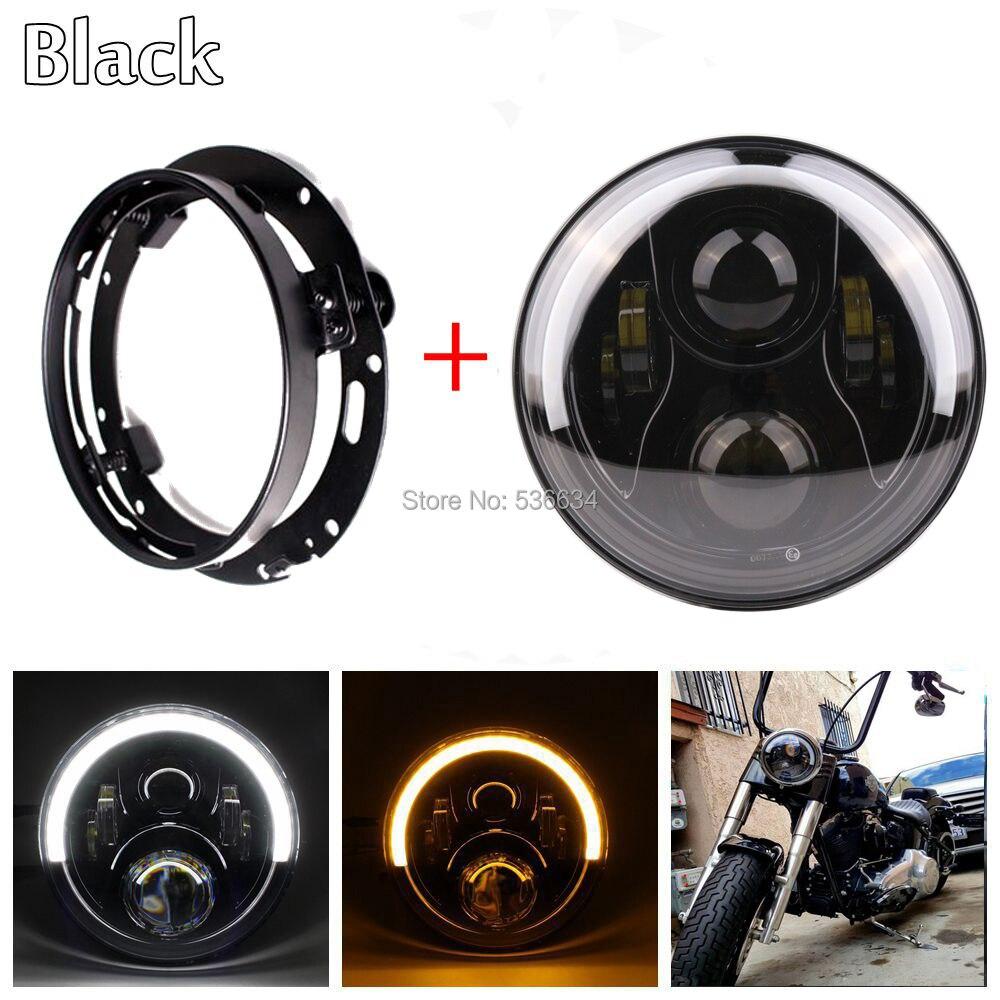 7-дюймовый светодиодный круглый проектор Daymaker фары Привет/низкий Венчик ДХО+фары Кронштейн кольцо для Электра Глайд Ультра Лимитед