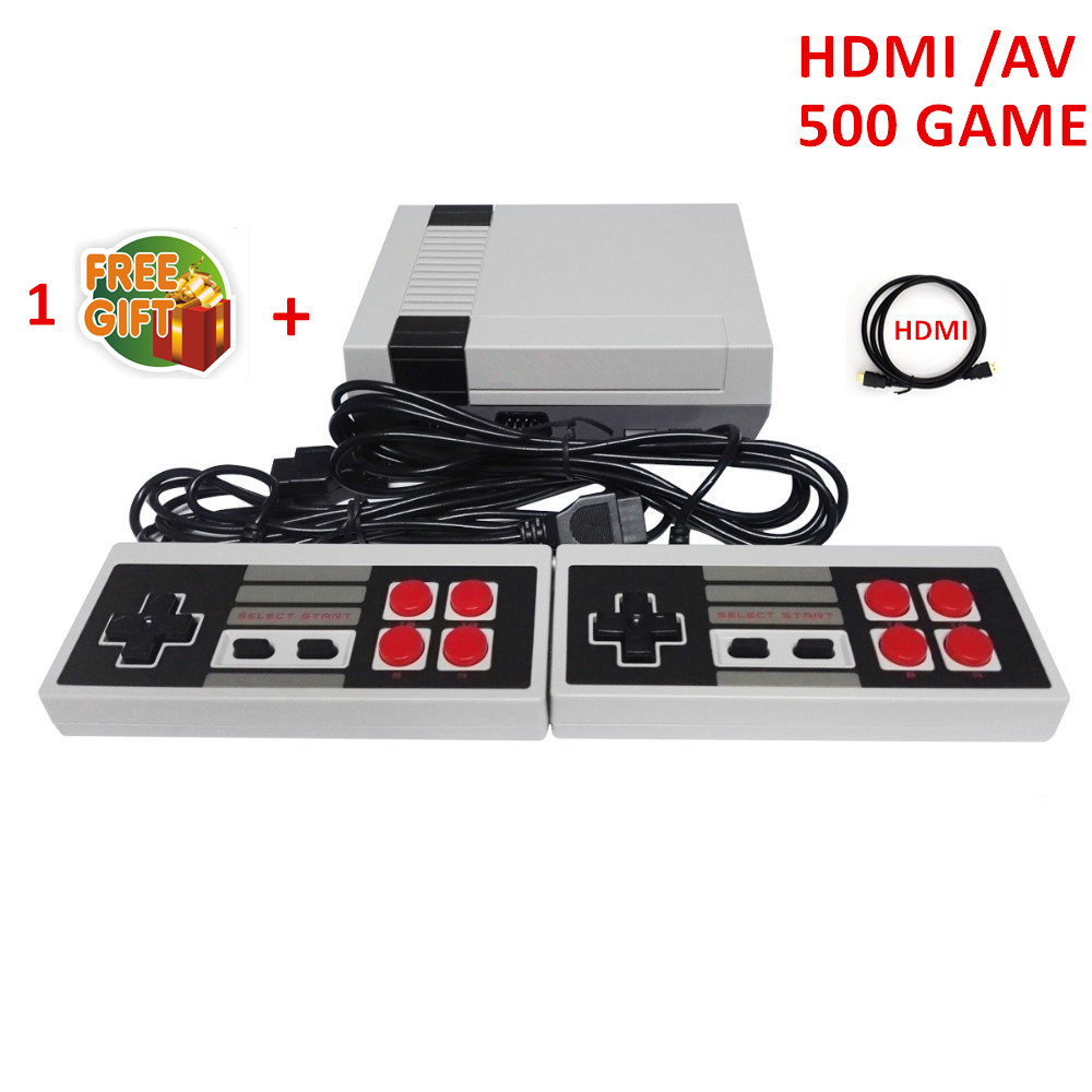 CoolBaby HDMI Out Retro Classic Game Player TV Video Game Consoles Childhood Built-in 600/500/620 Double handle control недорго, оригинальная цена